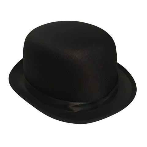 Bowler Hat - Black 1920's, accessories, alice in wonderland, black, bowler, bowler hat, casino, costume, fancy dress, gangster, great gatsby, hats, magician, mens, top hat, womens