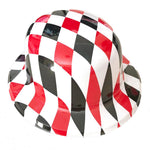 Plastic Bowler Hat - Harley Quinn Checkered Pattern