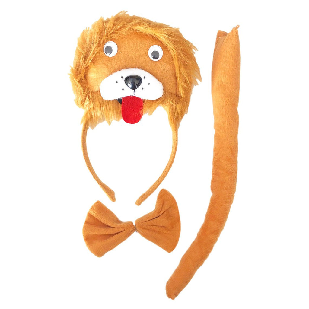 Lion Head With Bow Tie And Tail