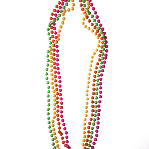 Round Neon Party Beads accessories, beads, fancy dress, mardi gras, necklace, neon, stock
