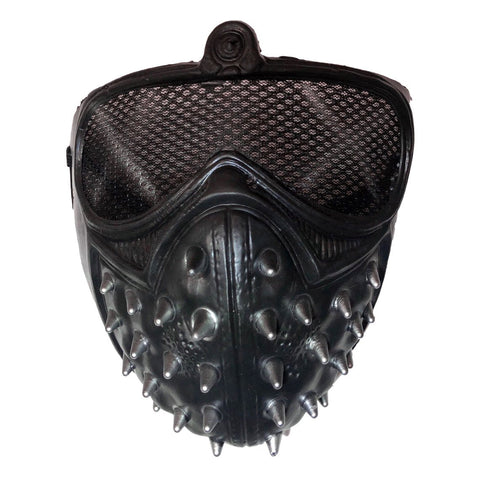 Black Spiked Half Mask black, fancy dress, half masks, halloween, masks, mens