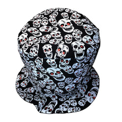 Halloween Skull Design Mad Hatters Hat