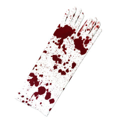 Bloody Halloween Long White Gloves