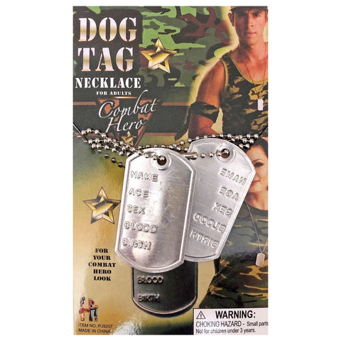 Military Tags accessories, adults, army, childrens, costume, dog tags, fancy dress, military, soldier, war