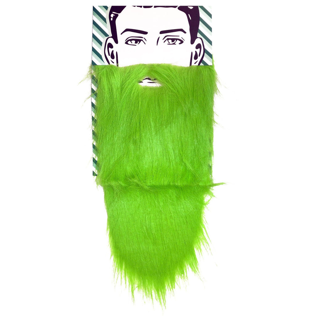 Green Long Beard accessories, beard, costume, facial hair, fancy dress, green, mens