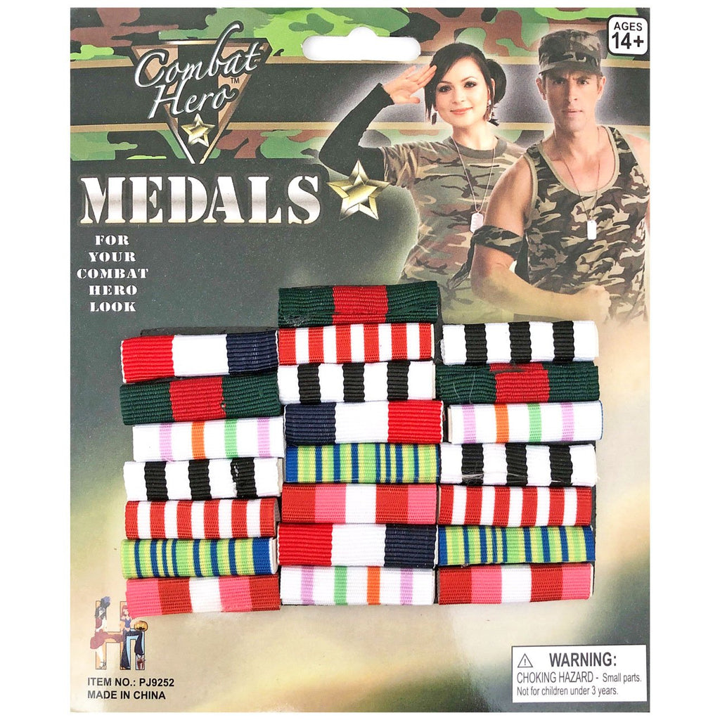 Military Fancy Dress Army War Medals