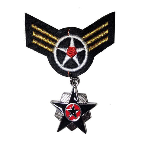 Military Hero Medal Star accessories, adults, army, badge, childrens, costume, fancy dress, medal, military, soldier, war