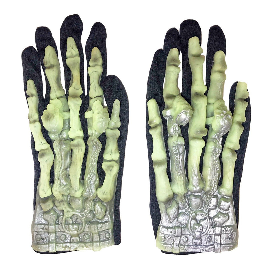 Childrens Skeleton Short Gloves accessories, adults, childrens, costume, fancy dress, halloween, mens, witch, wizard, womens