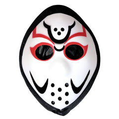 Jason Style White Hockey Mask With Cover adult one size, fancy dress, half masks, halloween, jason voorhees, masks, scary, villains, white
