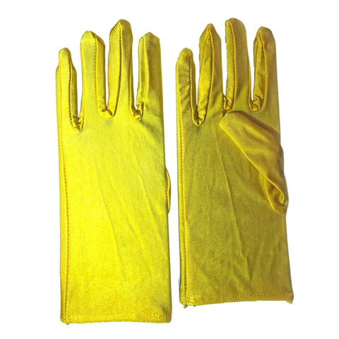 Economy Adult Short Gloves - Yellow