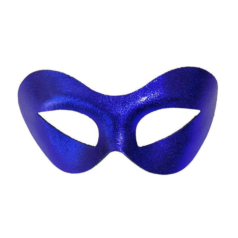 Curved Cat Eye Masquerade Mask - Royal Blue