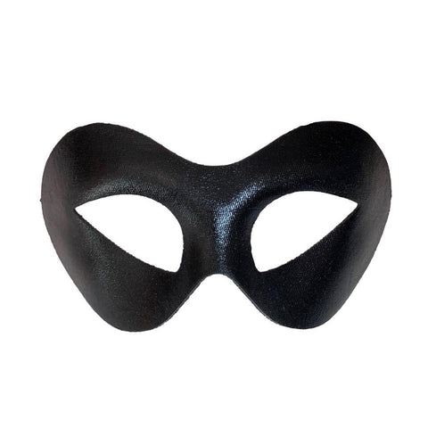 Curved Cat Eye Masquerade Mask - Black