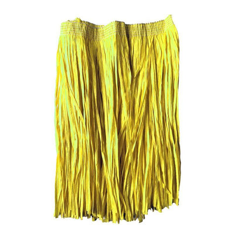 Adults Hawaiian Raffia Grass Skirt 40cm - Yellow accessories, costume, fancy dress, grass skirt, hawaii, luau, moana, raffia skirts, skirt, tropical island, womens, yellow