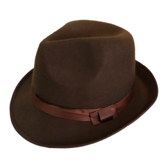 Maffia Hat - Brown with Ribbon 1920's, accessories, alice in wonderland, brown, casino, childrens, costume, fancy dress, freddy, freddy kreuger, freddy kruger, gangster, great gatsby, halloween, hats, maffia, mens, womens