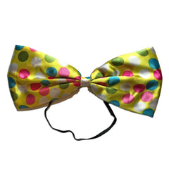 Clown Oversize Spotty Bow Tie - Yellow