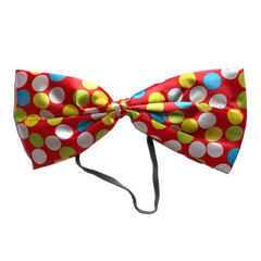 Clown Oversize Spotty Bow Tie - Red