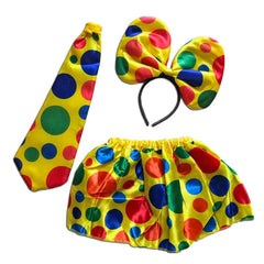 Girls Circus Clown Dress Up Set