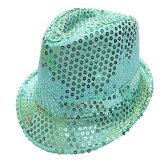 Sequined Green Mafia Hat