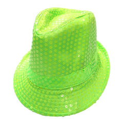 Sequined Neon Green Mafia Hat