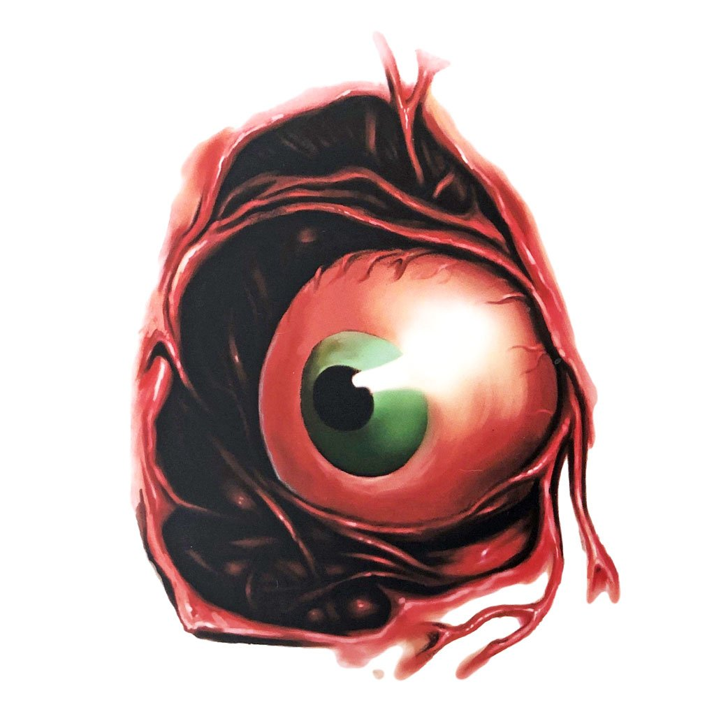 Creepy Eye Gory Temporary Tattoo Simply Party Supplies