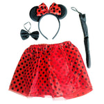 Girls Minnie Mouse Tutu, Ears, Bowtie and Tail set