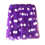 Girls Purple Polka Dot Tulle Tutu