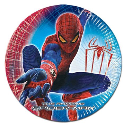 Spider-man Paper Plates - Pack Of 10 boys, childrens, clearance, licensed, paper, party supplies, plate, spider-man, superhero
