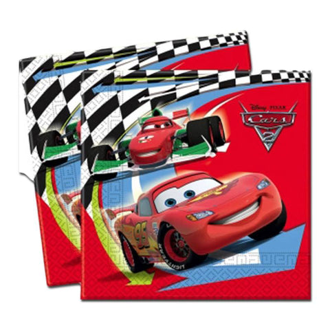 Cars 2 Napkins - Pack Of 20 boys, cars, cars 2, childrens, clearance, disney, licensed, napkins, party supplies