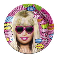 Totally Barbie Paper Plates - Pack Of 8 barbie, childrens, girls, licensed, paper, party supplies, plate, totally barbie