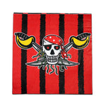 Pirate Napkins - Black And Red - Pack Of 10