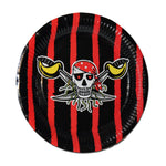 Pirate Paper Plates - Black And Red - Pack Of 10