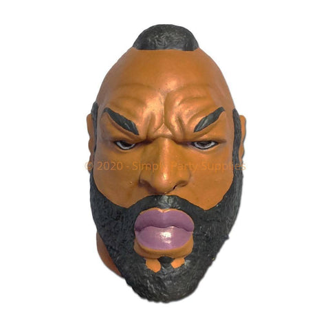 Latex Mask - Mr T Look Alike Latex Mask