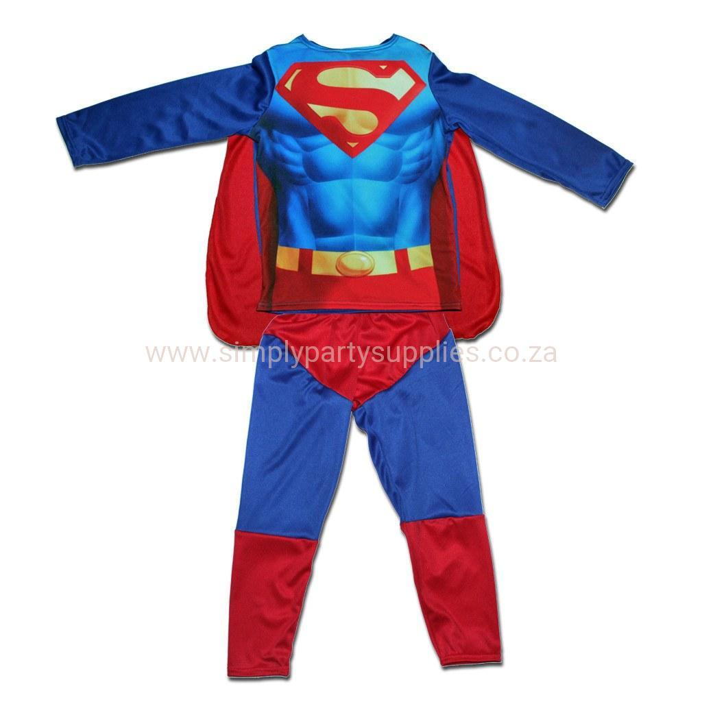 Super Boy Childs Non-Padded Costume 6-12m, 12-18m boys, childrens, costume, fancy dress, heroes, superhero, superman