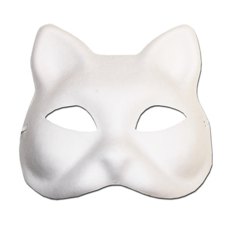 DIY Masquerade Mask - Cat animals, cat, diy, fancy dress, masks, masquerade, white, womens