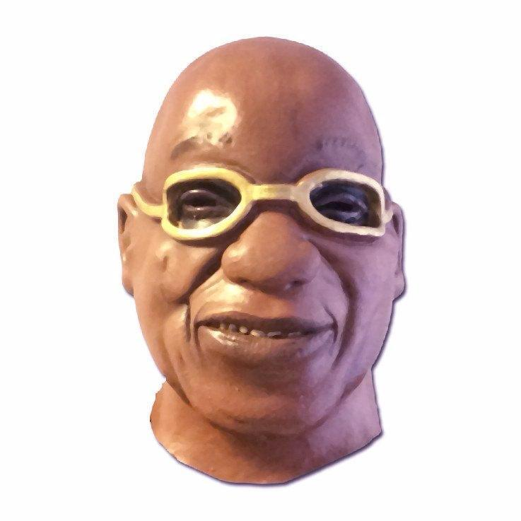 Latex Mask - Zuma Look Alike Latex Mask with brown glasses