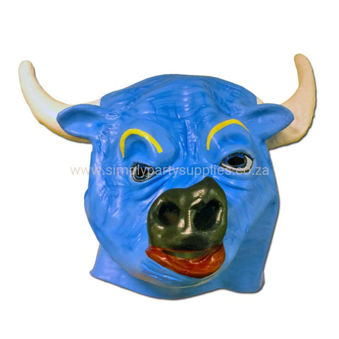 Blue Bull Latex Mask