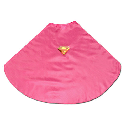 Childs Pink Superhero Cape With Logo