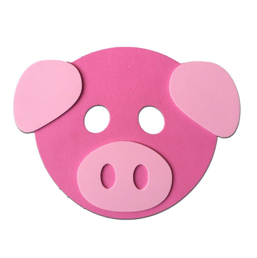 Childrens Masks - Pig Dark Pink Childrens Foam Animal Mask