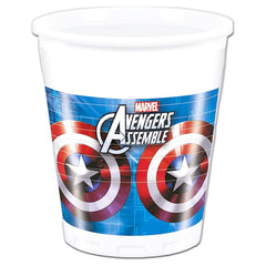 The Avengers Plastic Drinking Cups - Pack Of 8 avengers, boys, childrens, clearance, cup, drinking, licensed, party supplies, plastic, superhero, the avengers