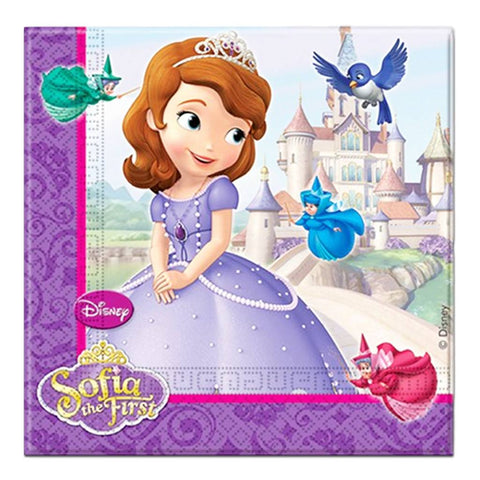 Sofia The First Napkins - Pack Of 20