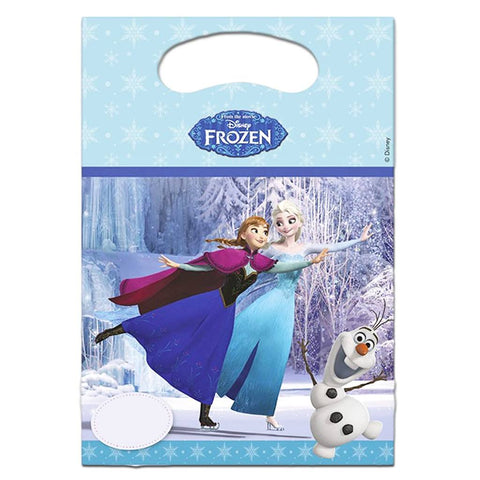 Loot Bags - Frozen Ice Skating Loot Bags- Pack Of 6