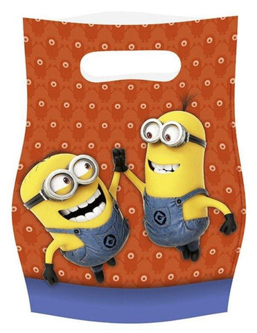 Minions Loot Bag - Pack Of 6 boys, childrens, clearance, girls, licensed, loot bag, minions, party supplies