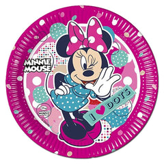 Paper Plate - Minnie Mouse I Love Dots Paper Plates - Pack Of 8