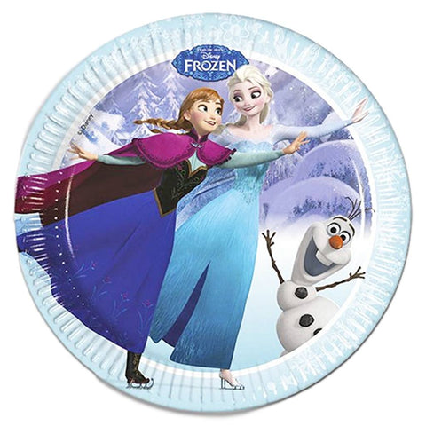 Frozen Ice Skating Paper Plates - Pack Of 8 anna, childrens, clearance, disney, elsa, frozen, girls, licensed, olaf, paper, party supplies, plate