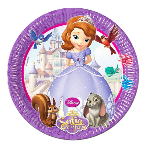 Paper Plate - Sofia The First Paper Plates - Pack Of 8