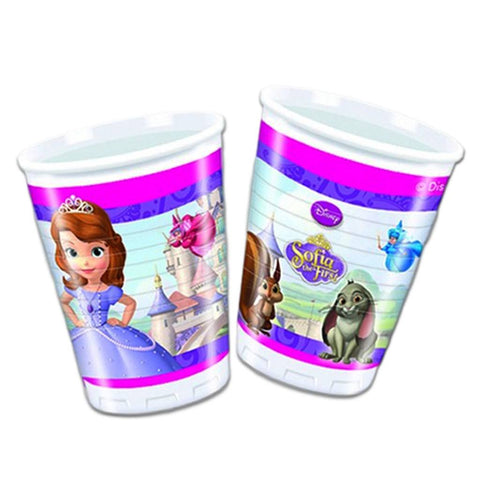 Drinking Cups - Sofia The First Plastic Cups - Pack Of 8