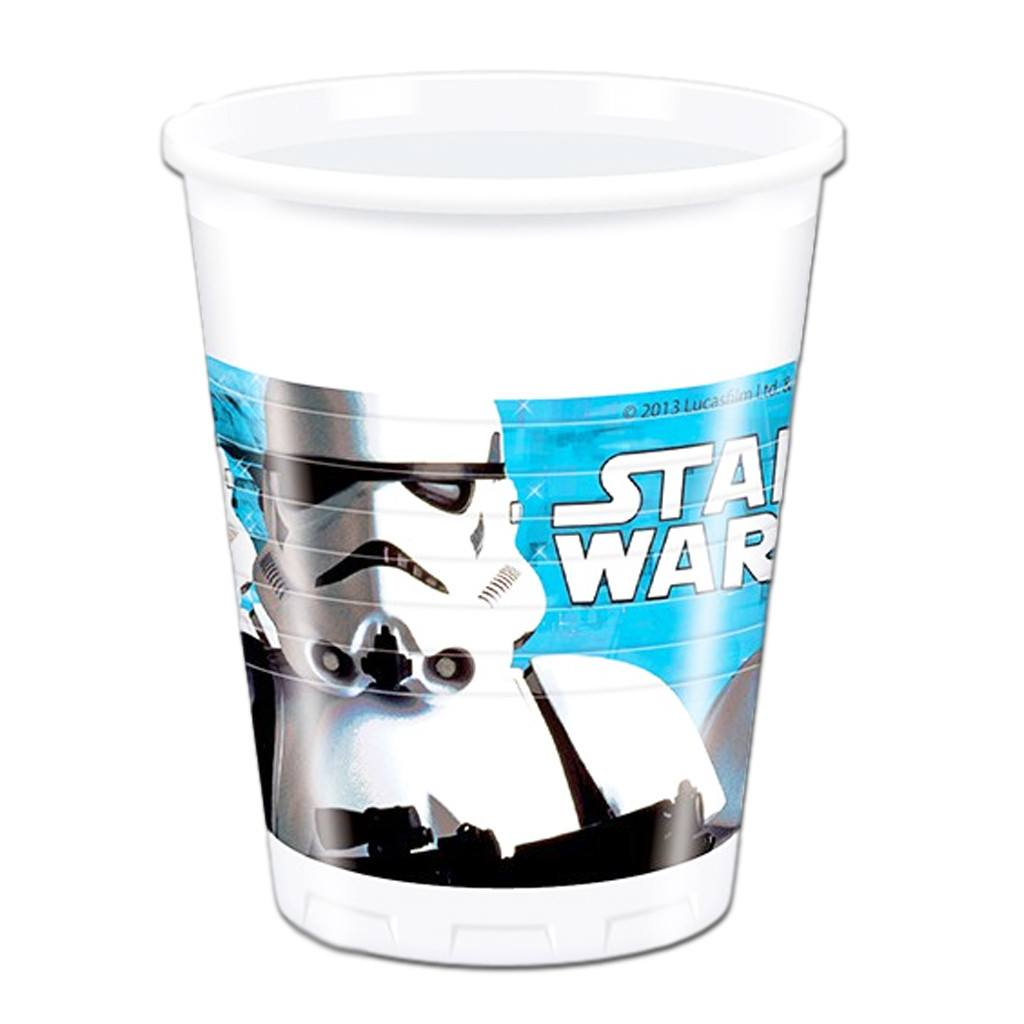 Drinking Cups - Star Wars Plastic Cups - Pack Of 8