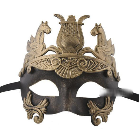 Mens Bronze Roman Style Venetian Masquerade Mask bronze, deluxe, fancy dress, game of thrones, masks, masquerade, mens, roman, venetian