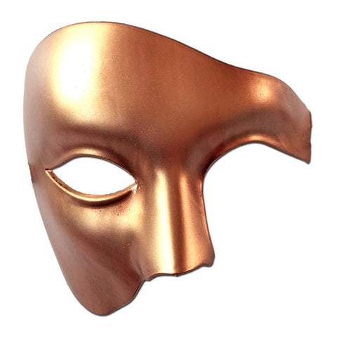 Bronze Gold Mens Phantom Of The Opera Masquerade Mask bronze, deluxe, fancy dress, gold, masks, masquerade, mens, phantom of the opera, venetian