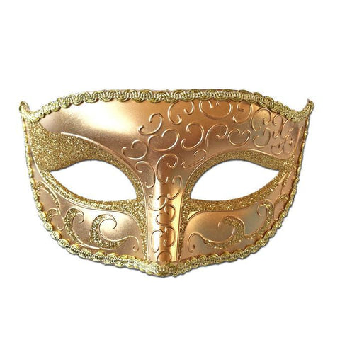 Deluxe Venetian Masquerade Mask with Gold Detail